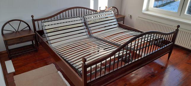 Łóżko drewniane 200x200 + Rokado Uniflexa Germany