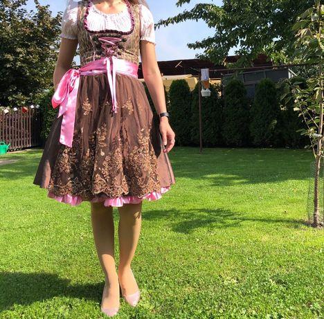 Sukienka bawarska ludowa dirndl strój bawarski Oktoberfest Bayern S