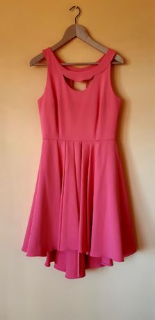 Sukienka, elegancka, koralowa, rozm.38