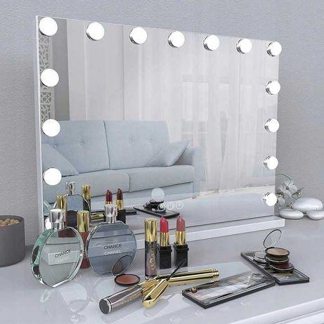 Duże lustro do makijażu, wizażu  led dotykowe