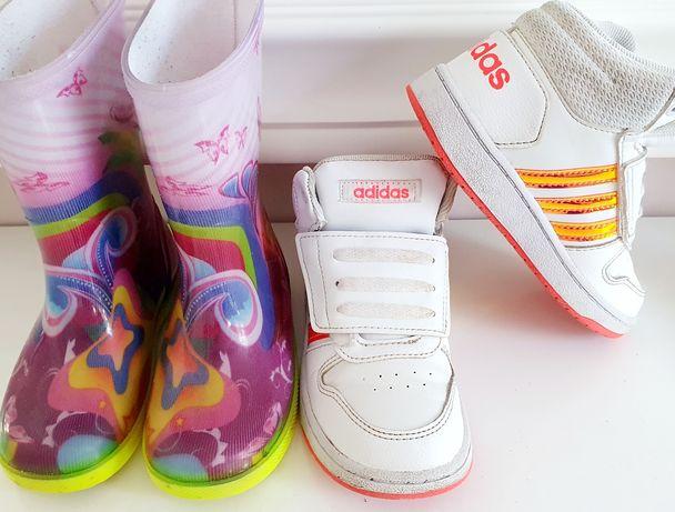 Buciki Adidas i gumiaczki dla dziewczynki