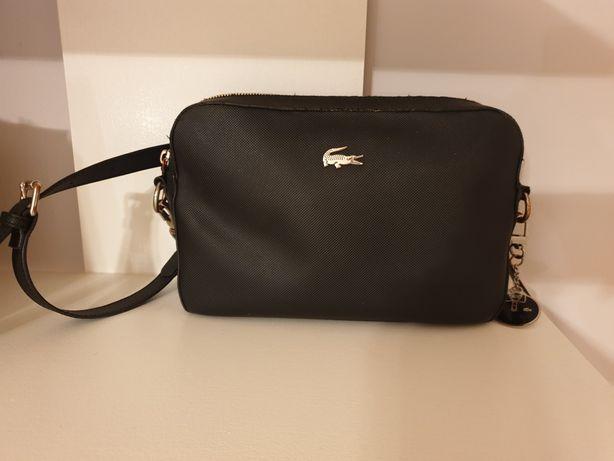 Torebka Lacoste - black SQUARE CROSSOVER BAG