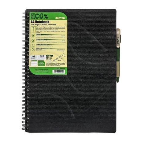 Notatnik ekologiczny A4 z długopisem nowy zafoliowany MINTRA