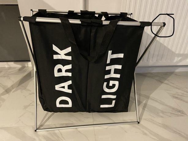 Kosz na pranie, bieliznę nowy, dark/light