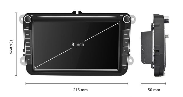 Nawigacja multimedialna MP5 do auta, Android 8.1 (Volkswagen, Seat)