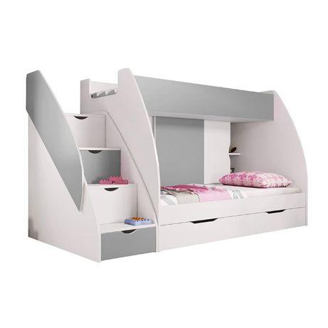 Piękne łóżko piętrowe MACIEK z szufladami NOWOŚĆ