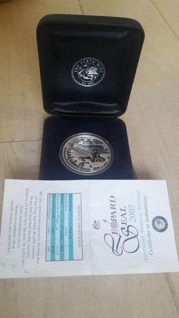 серебряная монета Австралия - 1 доллар 2005 - Морской леопард
