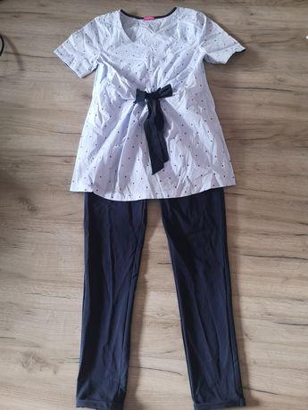 Happy mum - spodnie i bluzka ciążowe +gratis sukienki