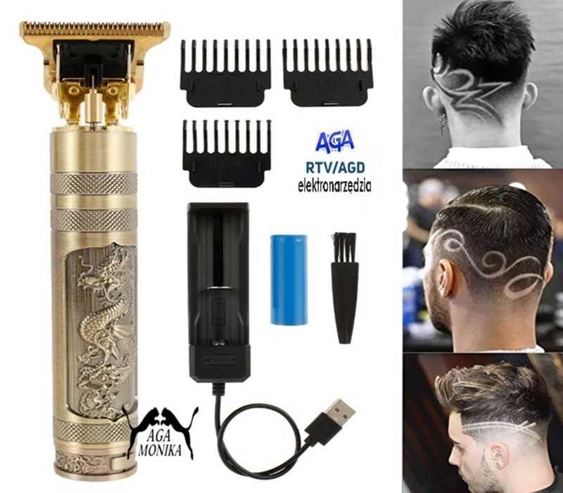 Maszynka Golarka Trymer Srzyżarka Do Włosów Brody+Akumulator+Ładowarka