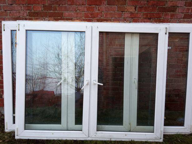 Okna PCV białe Używane Plastikowe 198x157