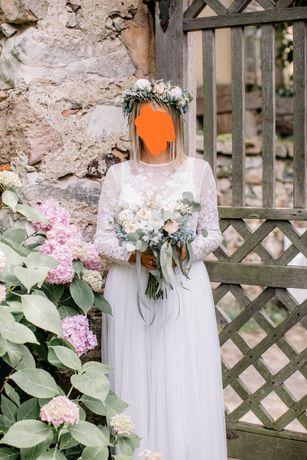 Suknia ślubna styl boho, rustykalny