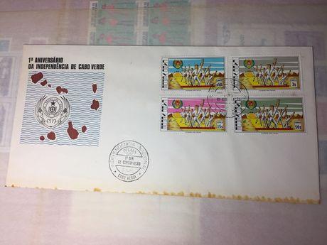Selos bloco Cabo verde - 1º aniversário independência