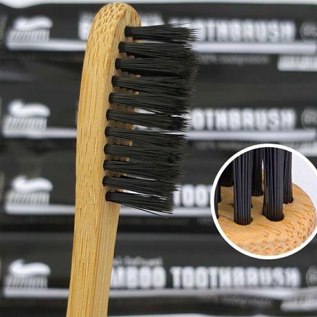 6 шт щетки из бамбука с древесно-угольной щетиной, мягкая, высокое кач