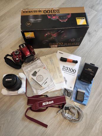 Зеркальный фотоаппарат NIKON D3100 Kit 18-55 VR Red