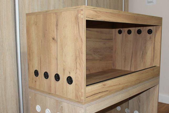 Gotowe Terrarium 100x50x50 dla jeża. możliwa wysyłka, Dąb Craft Złoty