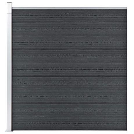vidaXL Painel de vedação para jardim 180x186 cm WPC cinzento 49069
