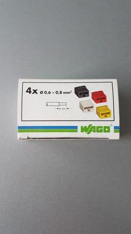 Wago złączki telefoniczne 4x0,6-0,8mm2 100sztuk