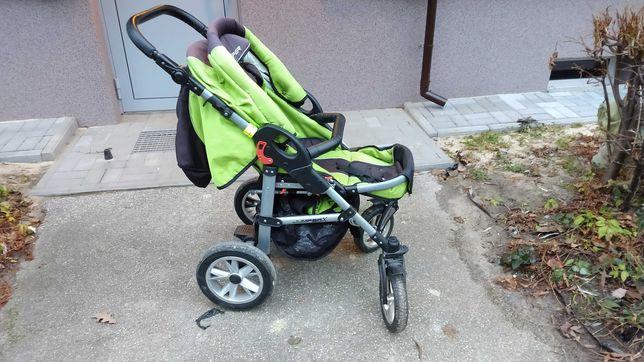 Wózek dla dziecka. Gondola plus spacerówka ocieplacz. Duże koła.