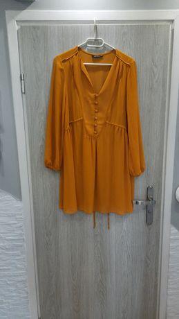 Sukienka musztarowa Reserved