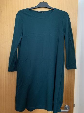 Vestido stradivarius verde escuro L