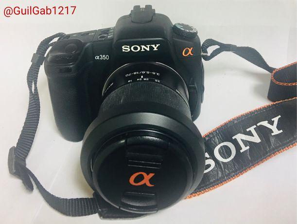 Maquina fotografica sony + objectiva