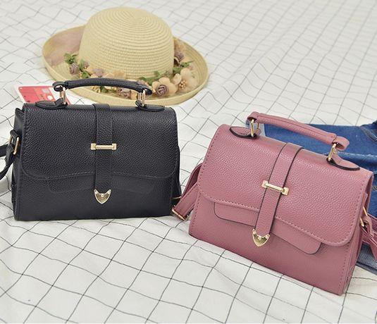 Маленькая женская сумочка на плечо сумка эко кожа черная серая хаки