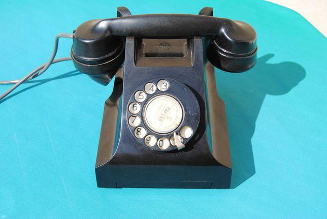 """Telefone de disco antigo Inglês """"AEP"""" baquelite vintage"""