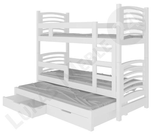 Praktyczne łóżko piętrowe OLI 3-osobowe! MATERACE GRATIS