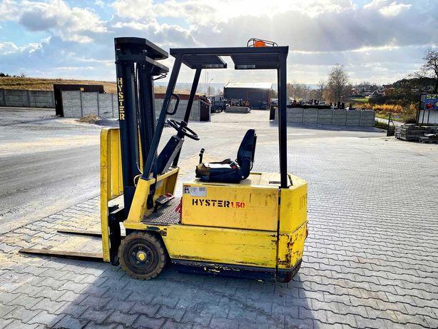 Wózek elektryczny HYSTER A1.50XL 1500kg 3.30m przesuw 4700mtg rok 1998