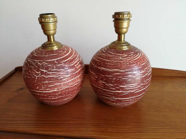 Candeeiros em cerâmica e pintados à mão
