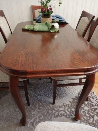 Stół rozkładany z krzesłami - 140/80 , 180/80 - komplet