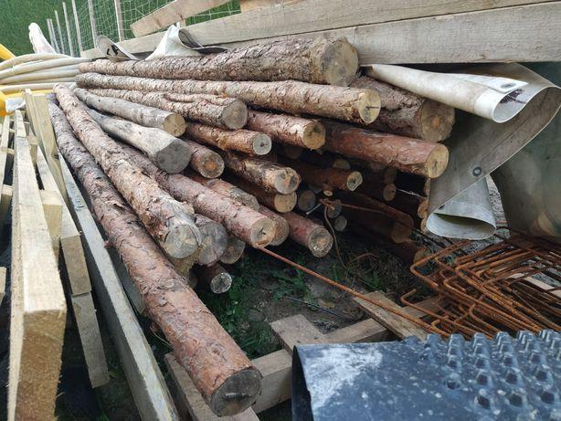 Stemple budowlane 2,8-3,5 m drewniane