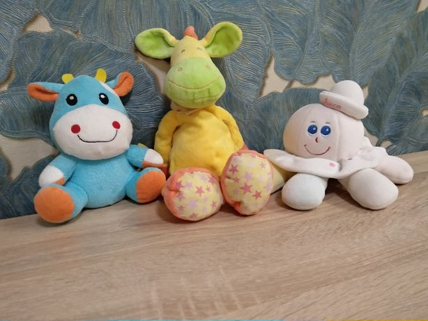 Детские игрушки мягкие фирменные chicco, можно поштучно