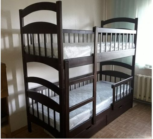 Двухъярусная кровать усиленная, +ящики +матрасы. От производителя