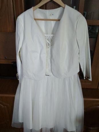 Biała sukienka + bolerko