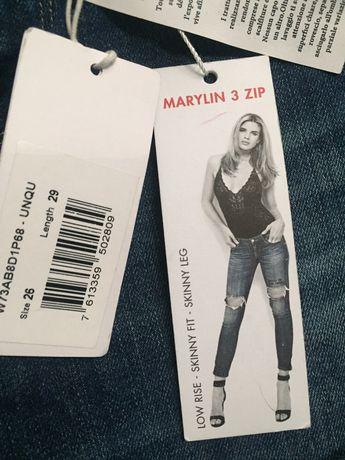 Jeans Spodnie GUESS MArylin Zip 3 NOWE 26
