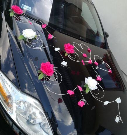 POLA~ dekoracja auta~ ŚLUB STROIK ozdoba