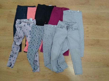 2 Zestawy - 5 par spodni + 4 pary  / legginsów 128 cm