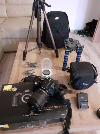 Okazja!!! Aparat Nikon D5300+Duży Zestaw/Ubezpieczenie 5 lat!