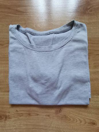 Szara basic koszulka t-shirt męski