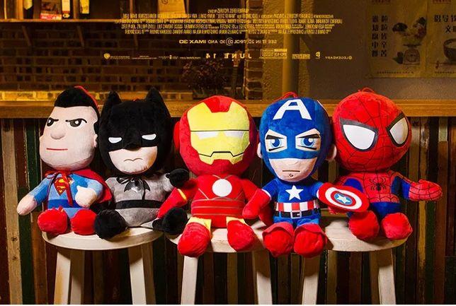 Мягкие игрушки супергерои. Супермен, Бетмен, Железный человек. Marvel