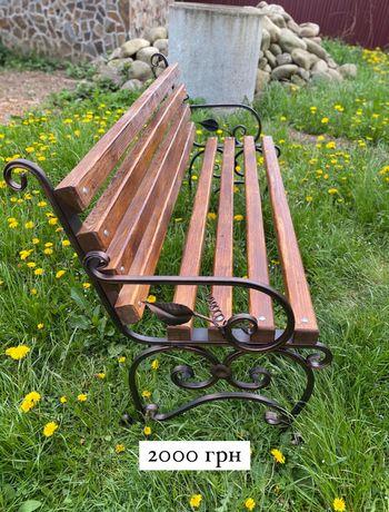 Лавка без спинки лавочка зі спинкою скамейка(ковані лавочки)