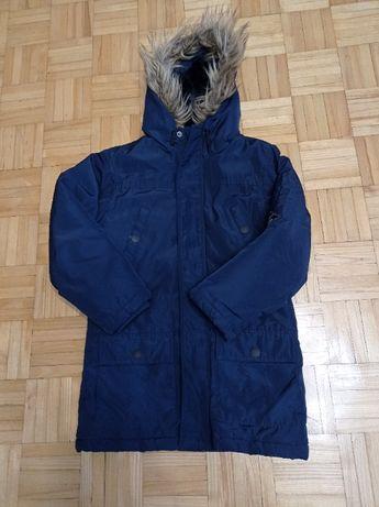 Kurtka zimowa płaszcz Primark 7-8 lat okazja 128 cm granat