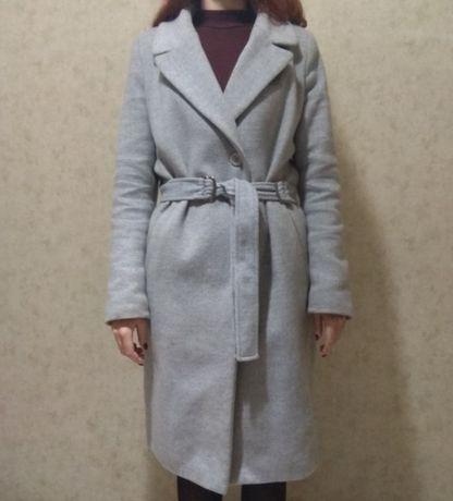 Женское Зимнее шерстяное пальто на утеплителе. Оверсайз