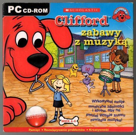 """gra na CD """" Clifford zabawa z muzyką """""""