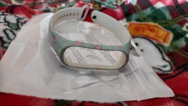Сменный браслет (ремешок) фламинго для mi band 4, miband 3