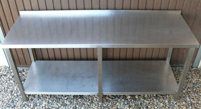 Stół gastronomiczny z półką  180x60x85(H) roboczy stal nierdzewna