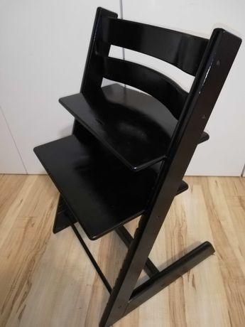 Krzesełko czarne Tripp Trapp Stokke malowane
