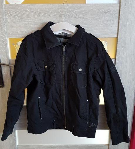 Czarna kurtka jeansowa młodzieżowa roz. L