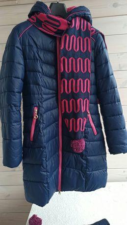 Куртка зимняя (холофайбер) на 10-13 лет, замеры в описании.